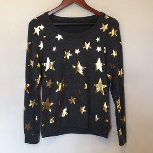 NWT Chaser gold star sweatshirt sz S